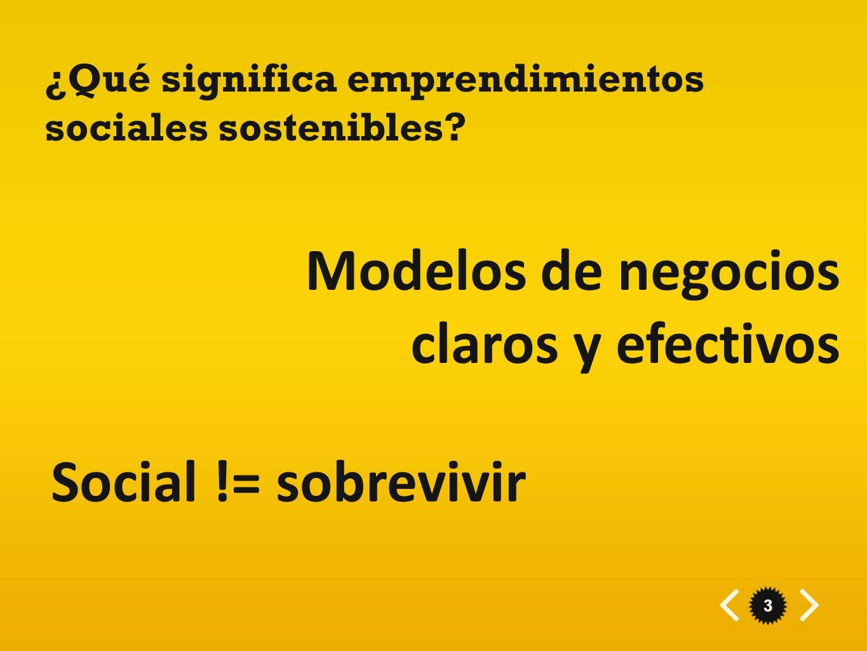 Modelos de negocios claros y efectivos