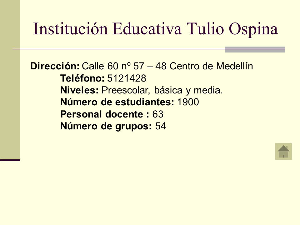 Institución Educativa Tulio Ospina