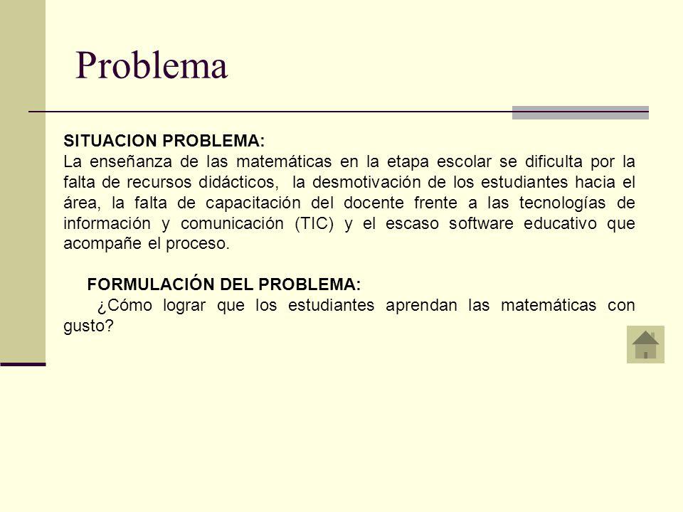 Problema SITUACION PROBLEMA: