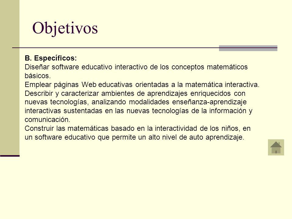 Objetivos B. Específicos: