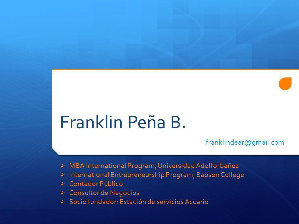 Franklin Peña B. franklindear@gmail.com