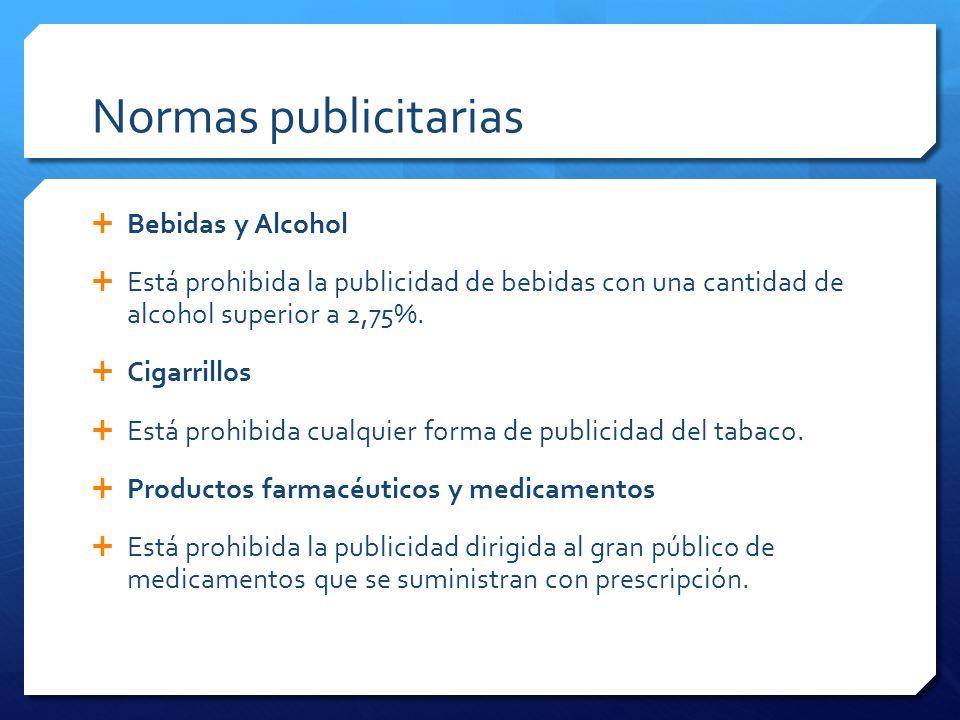 Normas publicitarias Bebidas y Alcohol
