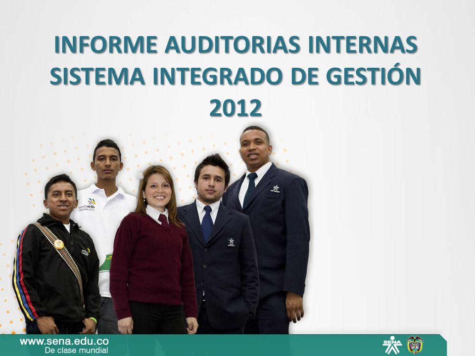 INFORME AUDITORIAS INTERNAS SISTEMA INTEGRADO DE GESTIÓN
