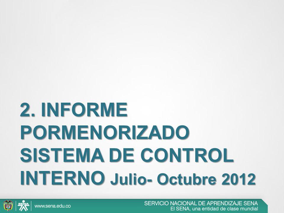 2. INFORME PORMENORIZADO SISTEMA DE CONTROL INTERNO Julio- Octubre 2012