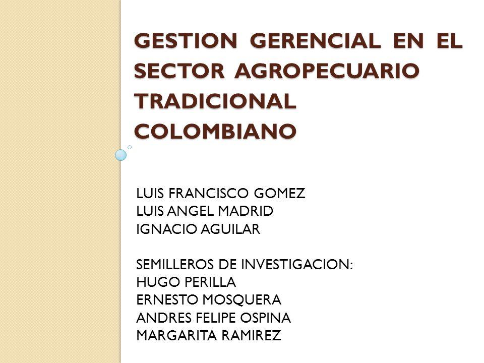 GESTION GERENCIAL EN EL SECTOR AGROPECUARIO TRADICIONAL COLOMBIANO