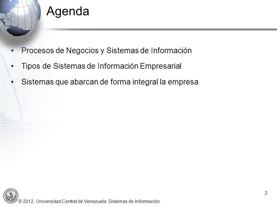 Agenda Procesos de Negocios y Sistemas de Información
