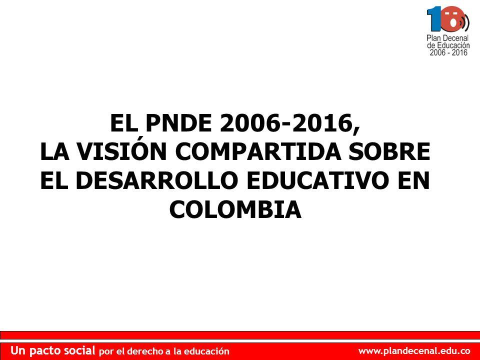 LA VISIÓN COMPARTIDA SOBRE EL DESARROLLO EDUCATIVO EN COLOMBIA