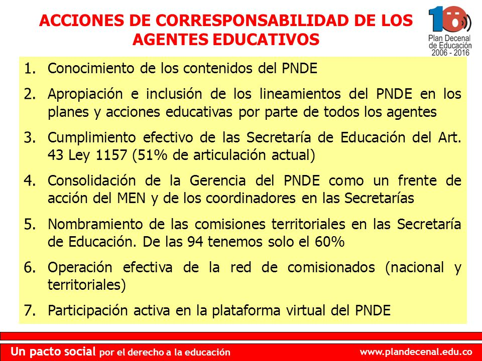ACCIONES DE CORRESPONSABILIDAD DE LOS AGENTES EDUCATIVOS
