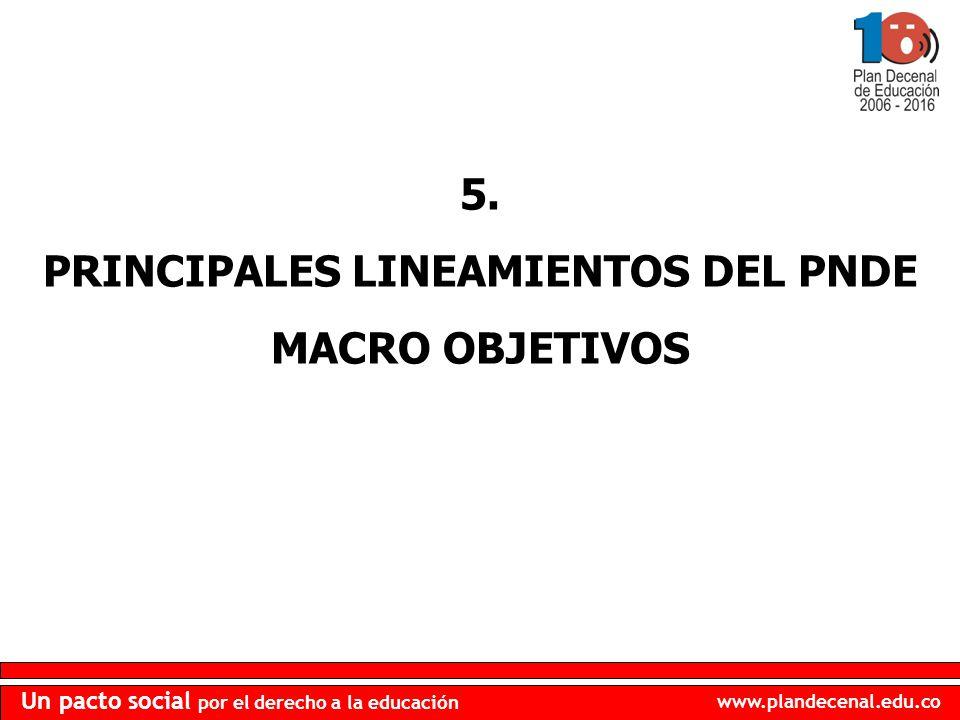 PRINCIPALES LINEAMIENTOS DEL PNDE