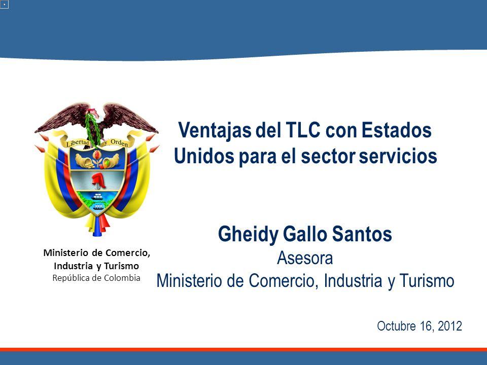 Ventajas del TLC con Estados Unidos para el sector servicios