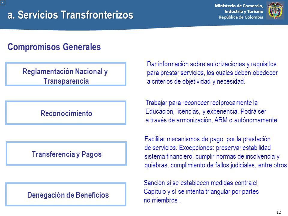 a. Servicios Transfronterizos