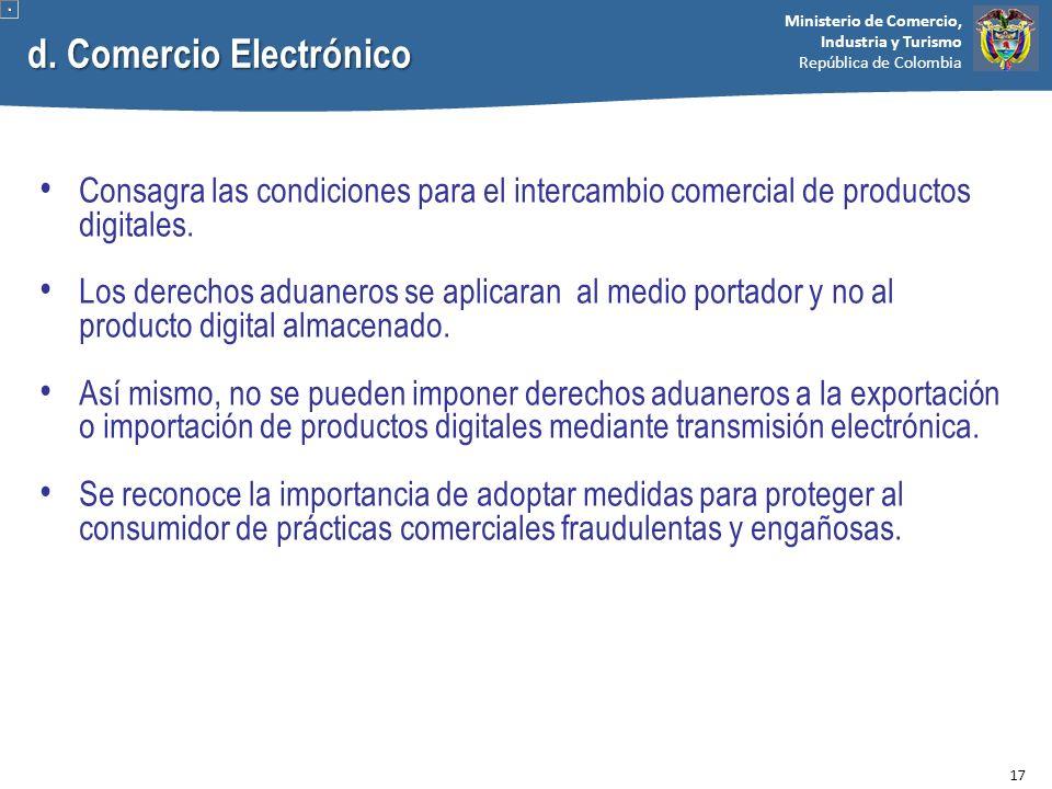 d. Comercio Electrónico