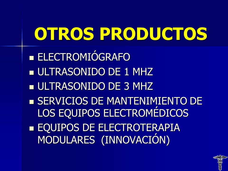 OTROS PRODUCTOS ELECTROMIÓGRAFO ULTRASONIDO DE 1 MHZ
