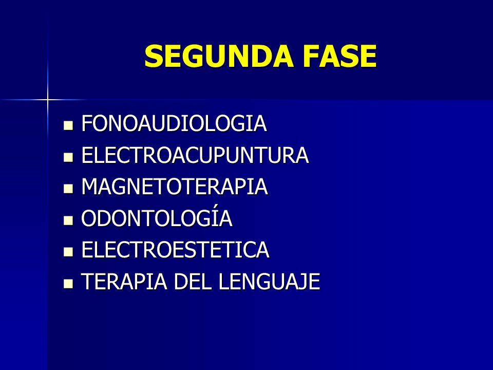 SEGUNDA FASE FONOAUDIOLOGIA ELECTROACUPUNTURA MAGNETOTERAPIA