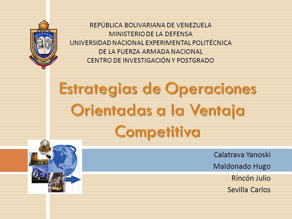 Estrategias de Operaciones Orientadas a la Ventaja Competitiva