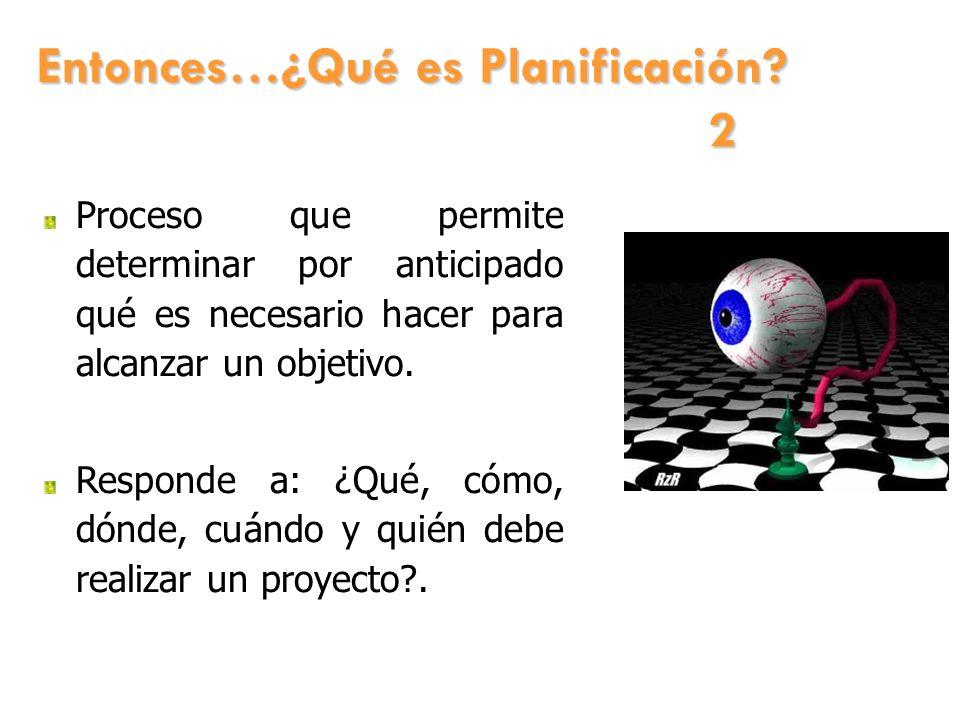 Entonces…¿Qué es Planificación 2