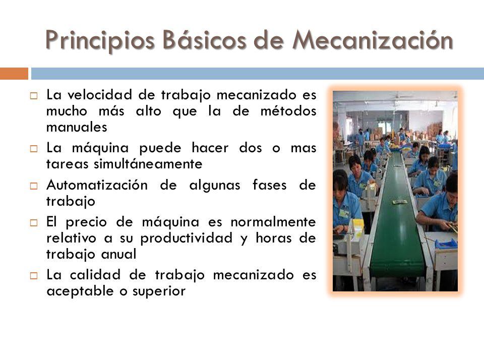 Principios Básicos de Mecanización