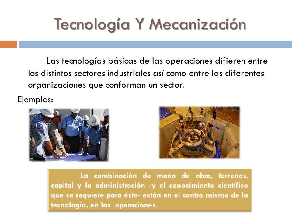 Tecnología Y Mecanización