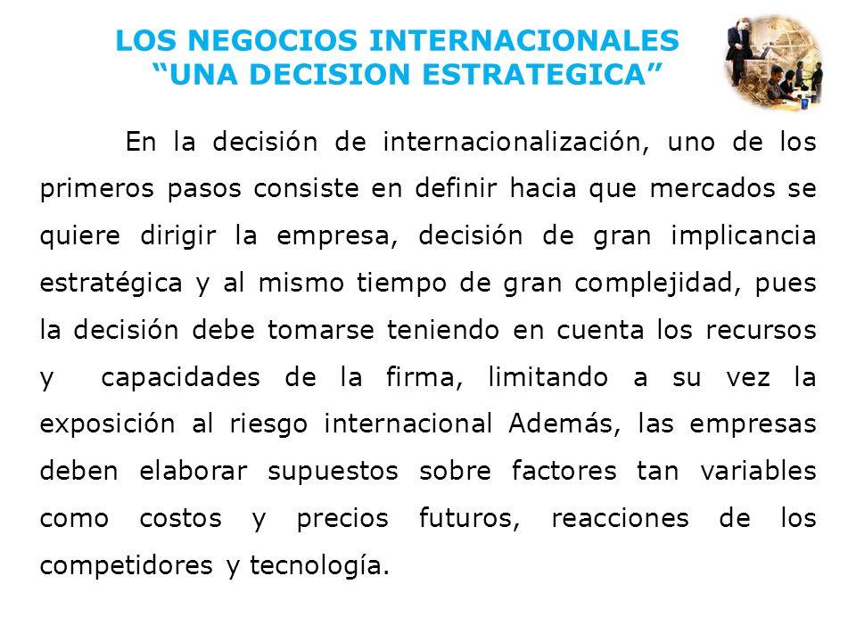 LOS NEGOCIOS INTERNACIONALES UNA DECISION ESTRATEGICA