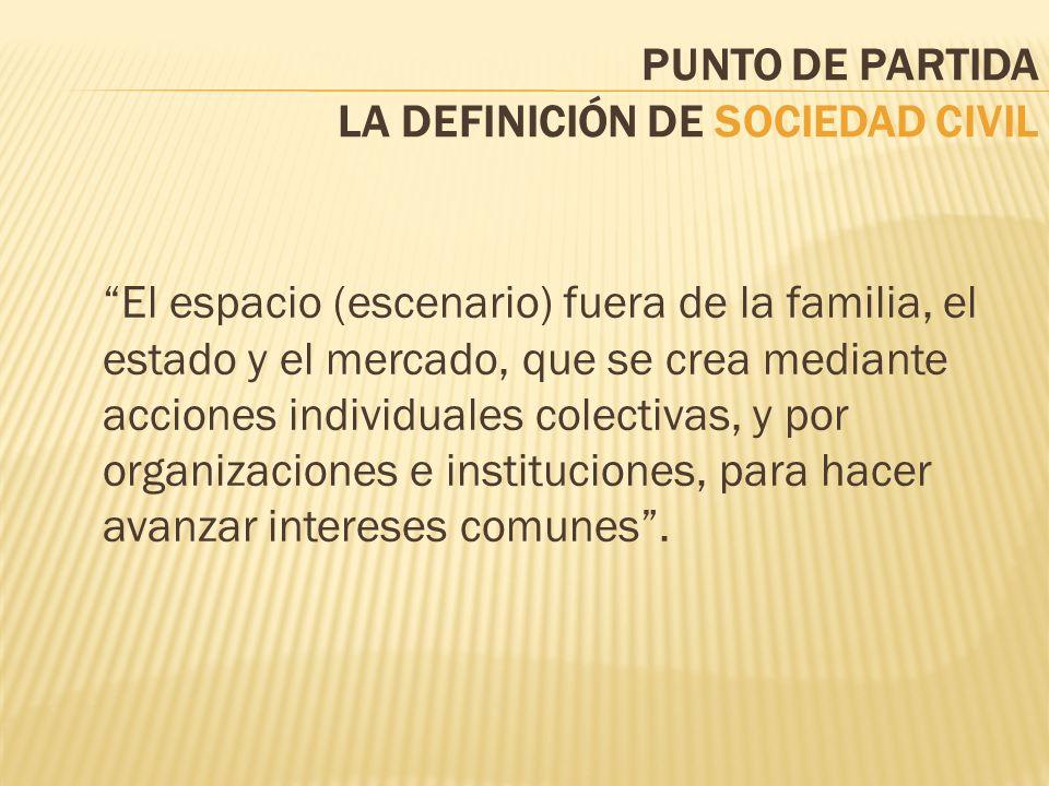 PUNTO DE PARTIDA LA DEFINICIÓN DE SOCIEDAD CIVIL