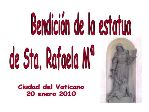 Bendición de la estatua