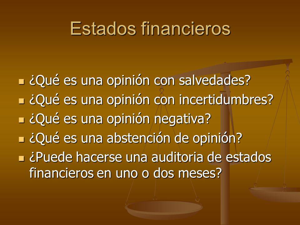 Estados financieros ¿Qué es una opinión con salvedades