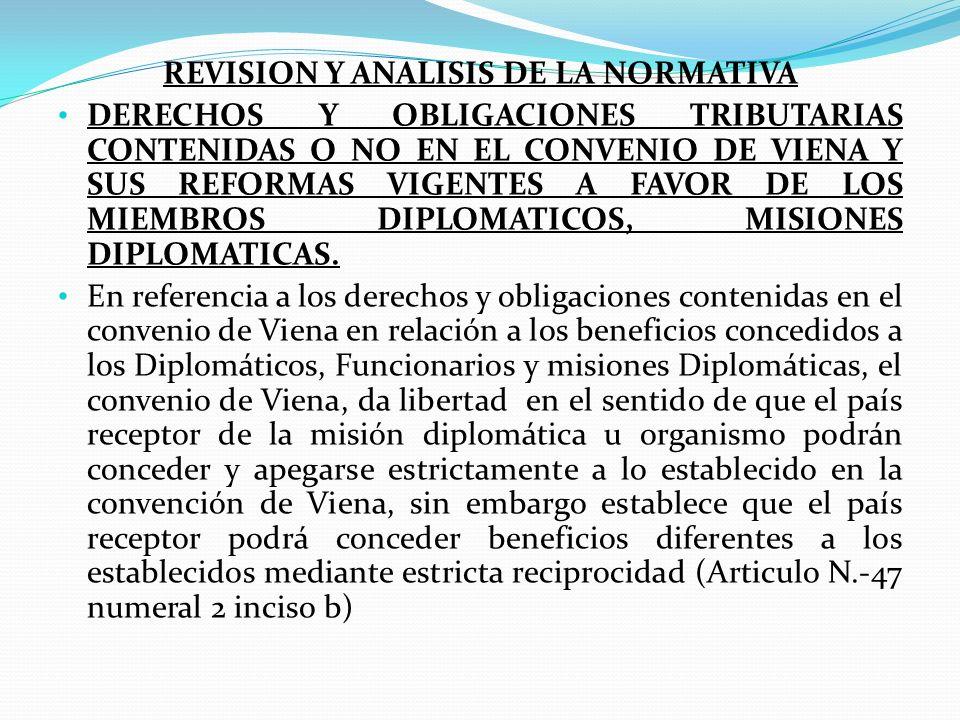 REVISION Y ANALISIS DE LA NORMATIVA