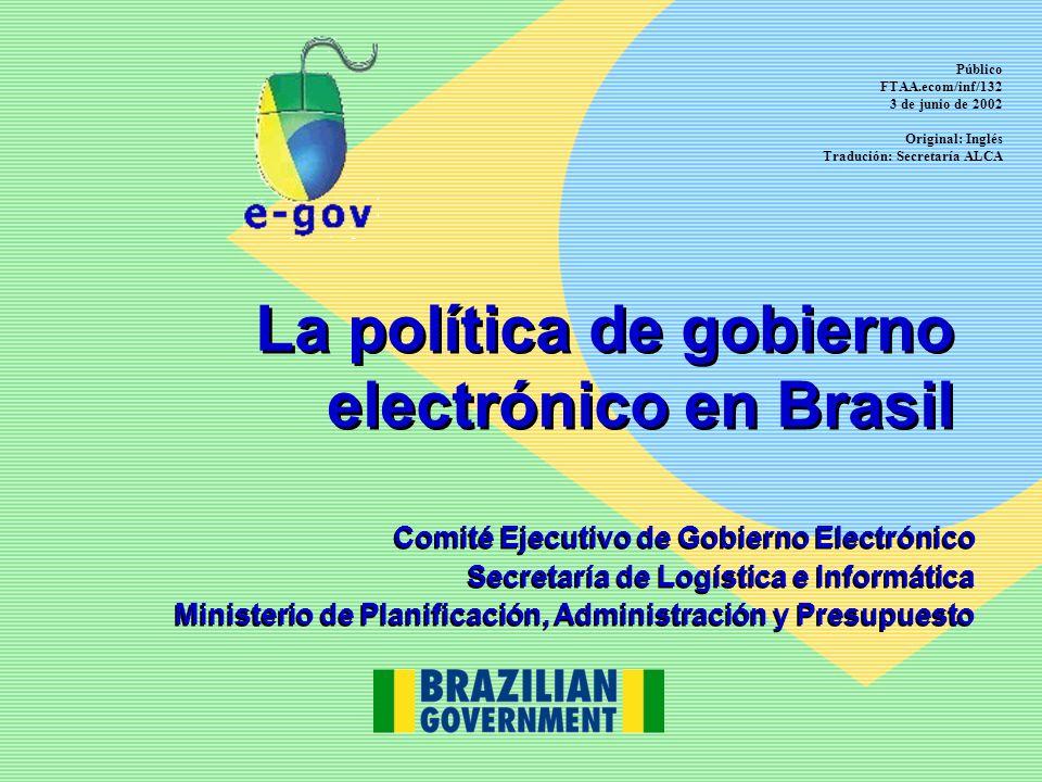 La política de gobierno electrónico en Brasil