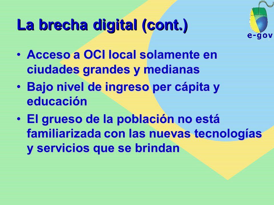 La brecha digital (cont.)