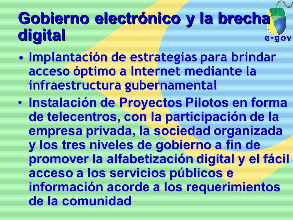 Gobierno electrónico y la brecha digital