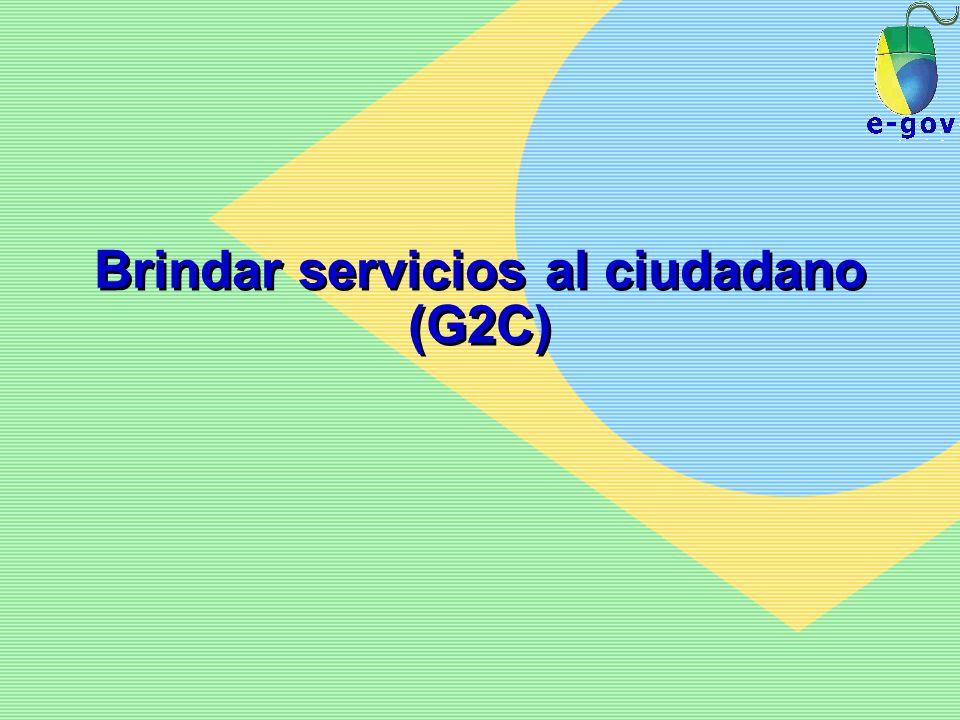 Brindar servicios al ciudadano (G2C)