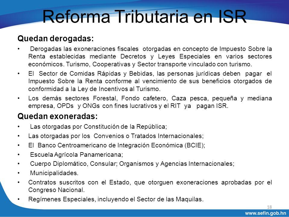 Reforma Tributaria en ISR