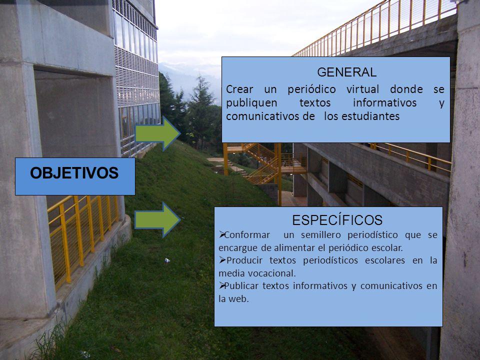 OBJETIVOS ESPECÍFICOS GENERAL