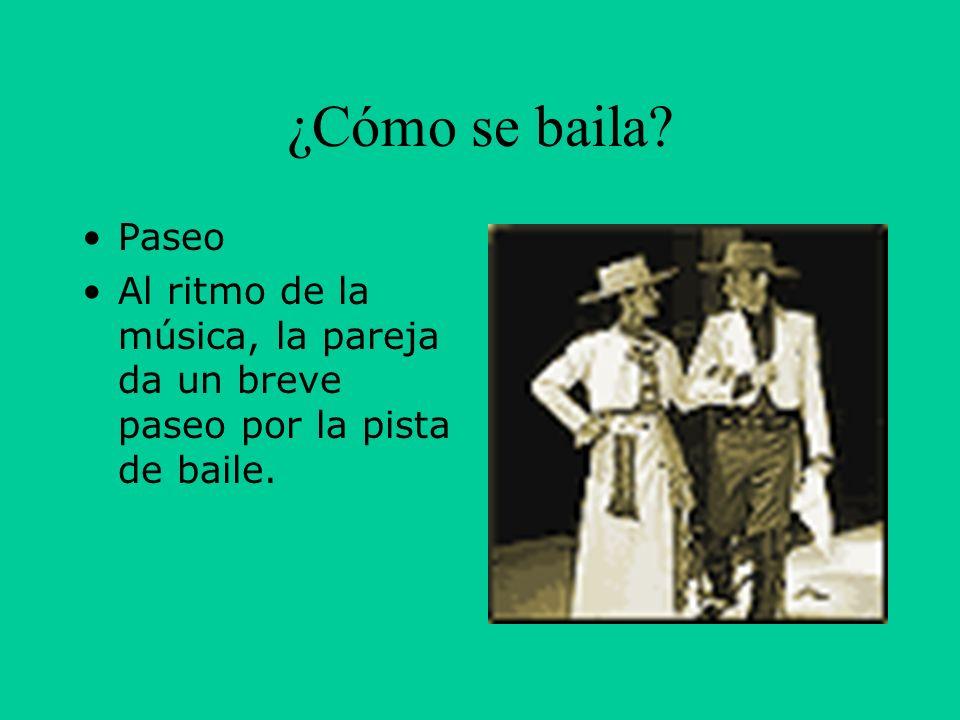 ¿Cómo se baila Paseo Al ritmo de la música, la pareja da un breve paseo por la pista de baile.