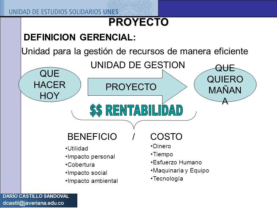 PROYECTO DEFINICION GERENCIAL: