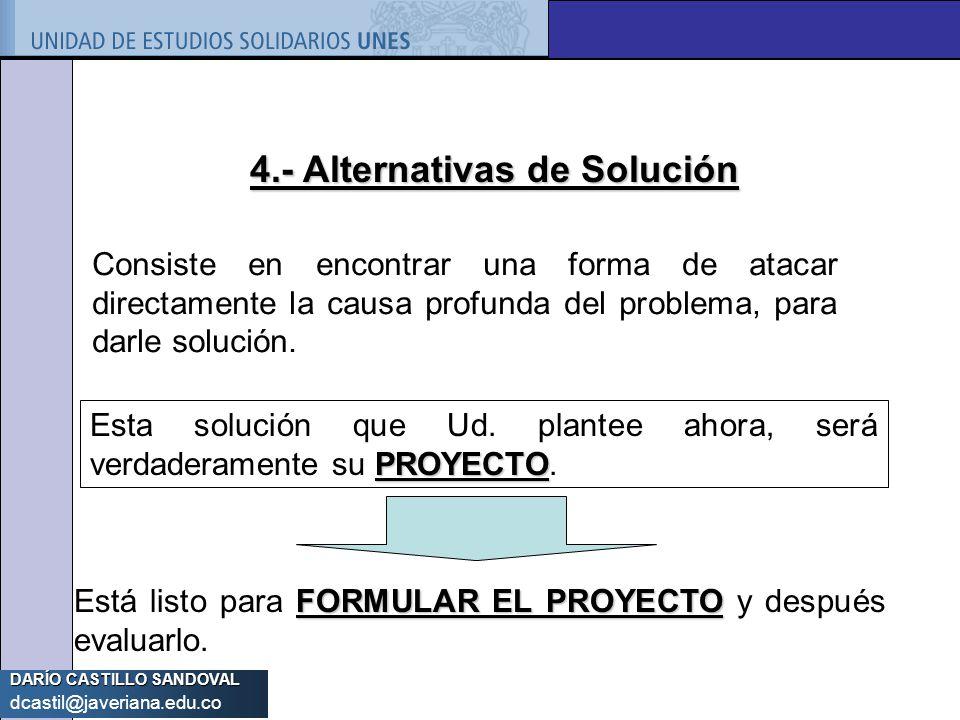 4.- Alternativas de Solución