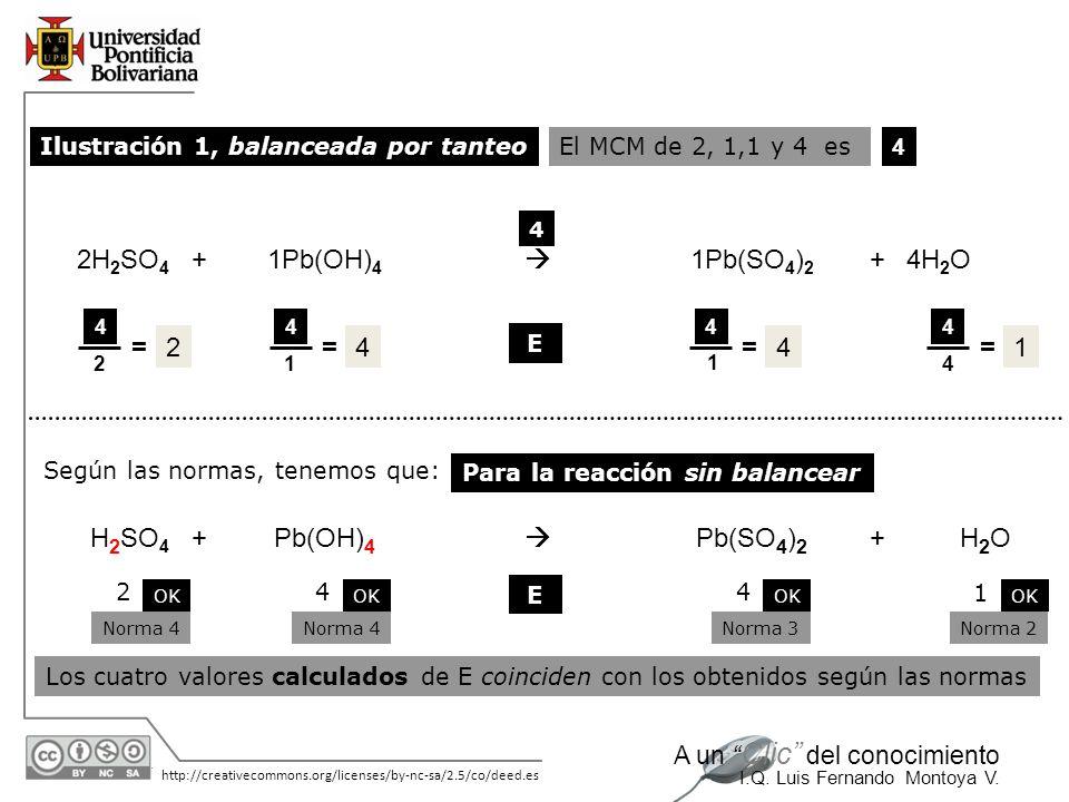 2H2SO4 + 1Pb(OH)4  1Pb(SO4)2 4H2O = 2 = 4 = 4 = 1 H2SO4 + Pb(OH)4 