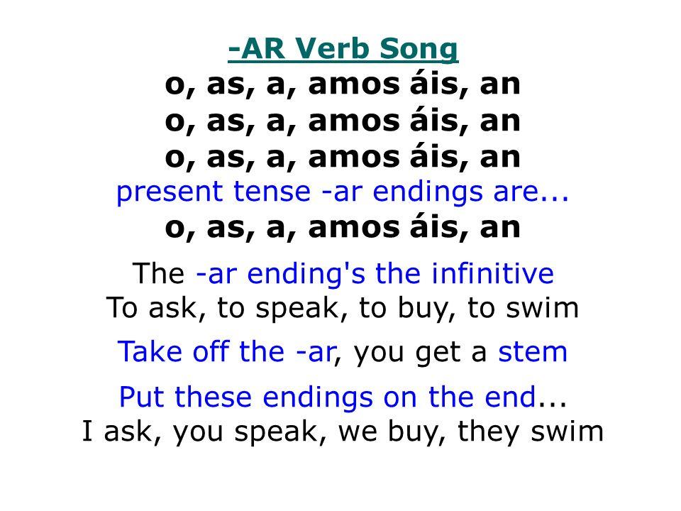 o, as, a, amos áis, an o, as, a, amos áis, an o, as, a, amos áis, an