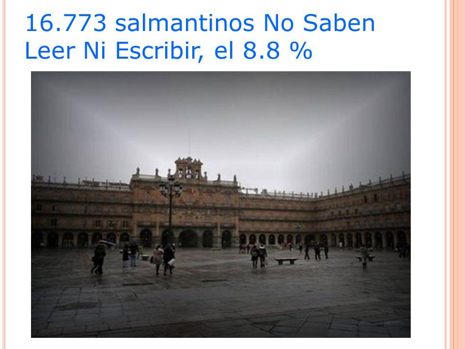 16.773 salmantinos No Saben Leer Ni Escribir, el 8.8 %