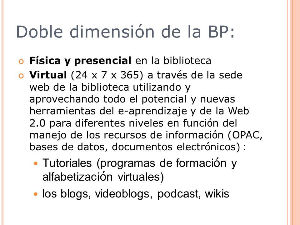 Doble dimensión de la BP: