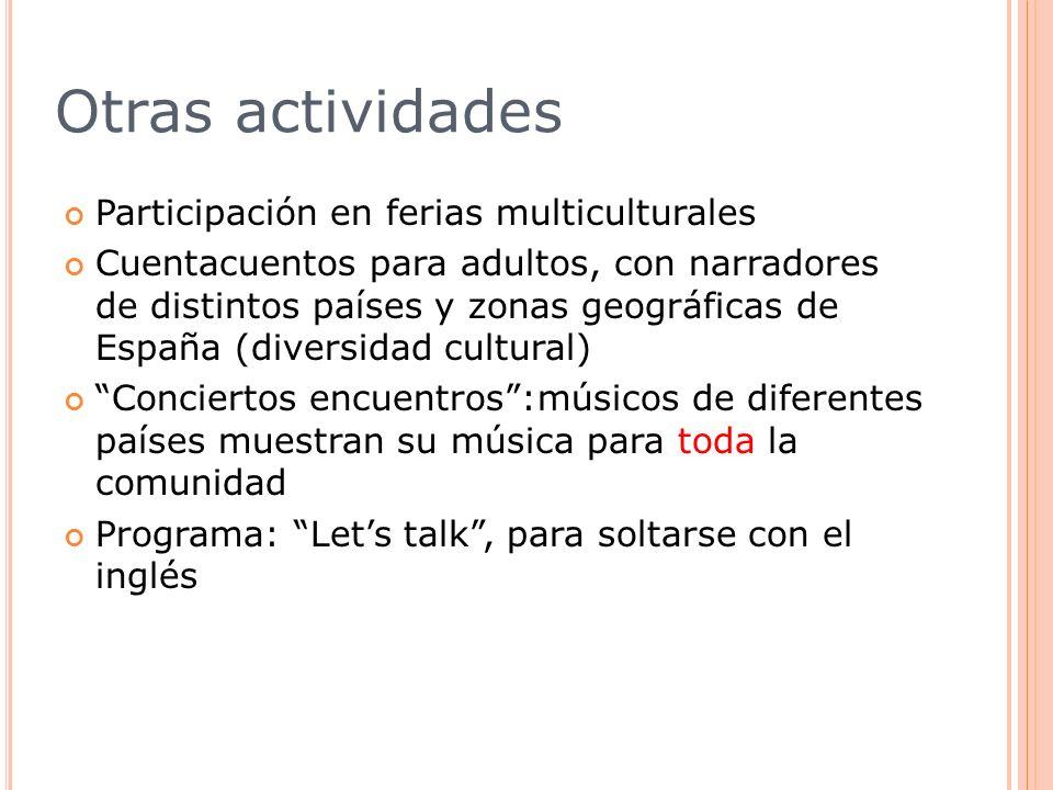 Otras actividades Participación en ferias multiculturales