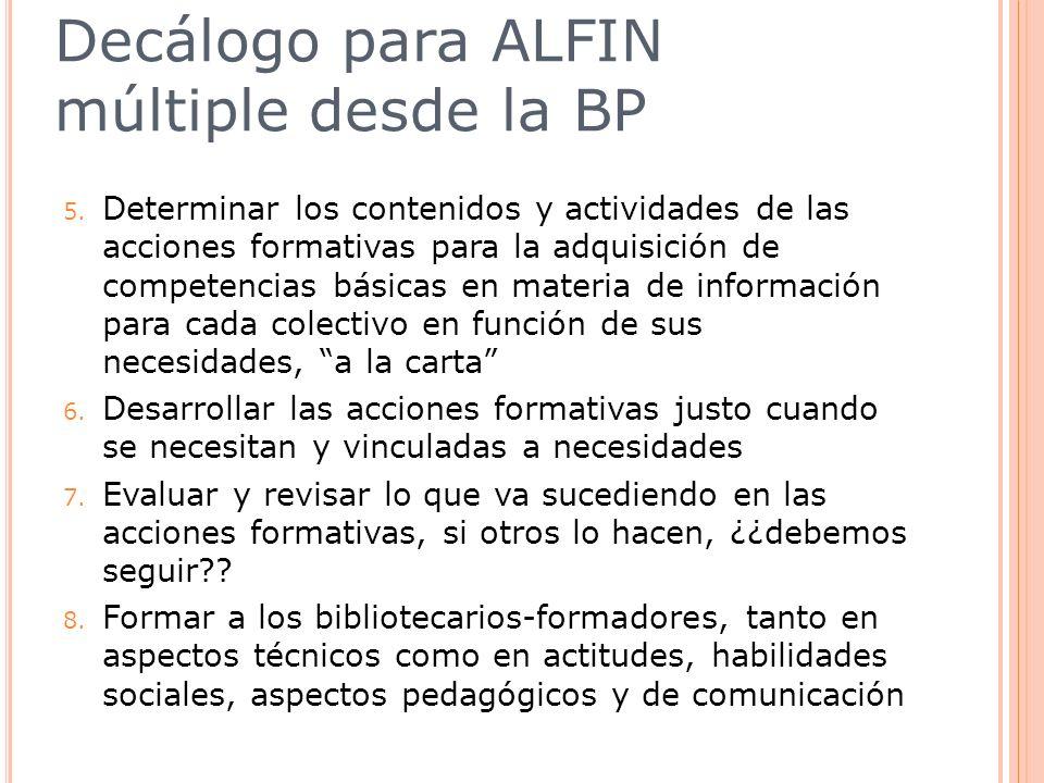 Decálogo para ALFIN múltiple desde la BP