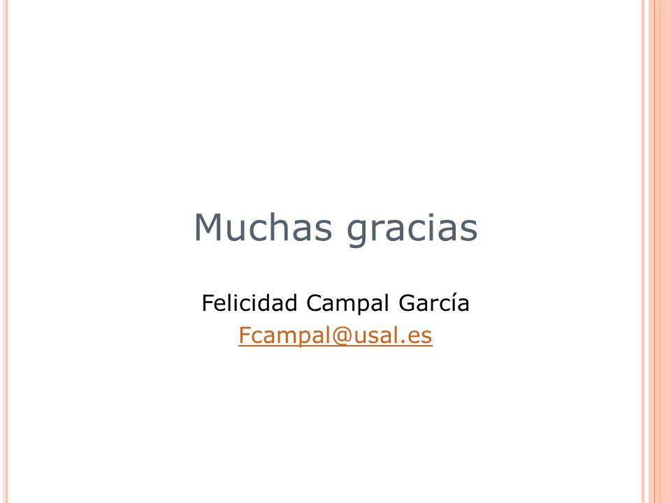 Felicidad Campal García Fcampal@usal.es