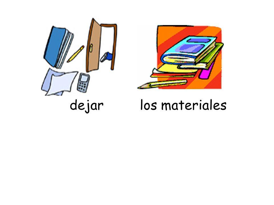 dejar los materiales