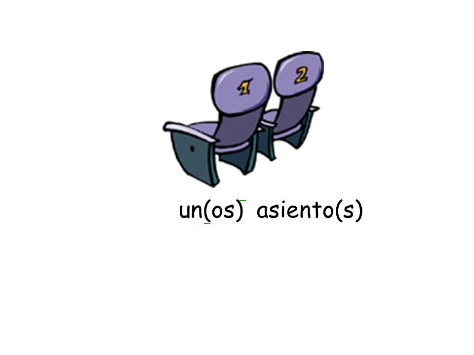un(os) asiento(s)