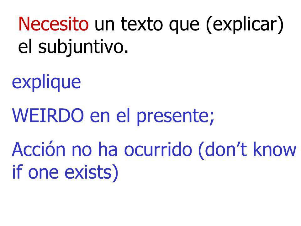 Necesito un texto que (explicar) el subjuntivo.