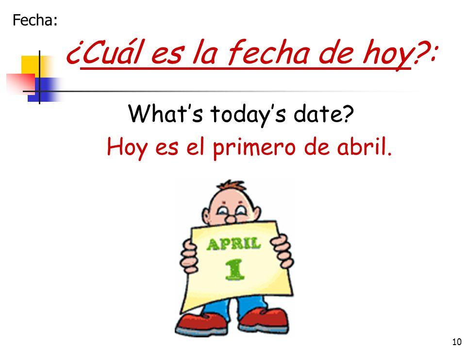 Hoy es el primero de abril.