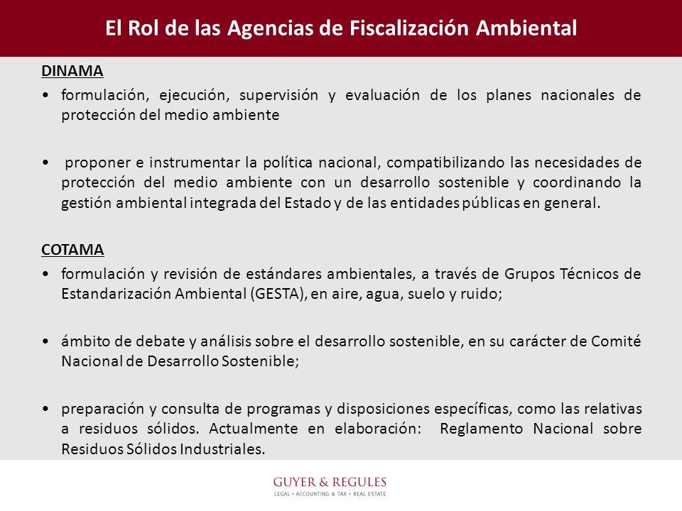 El Rol de las Agencias de Fiscalización Ambiental