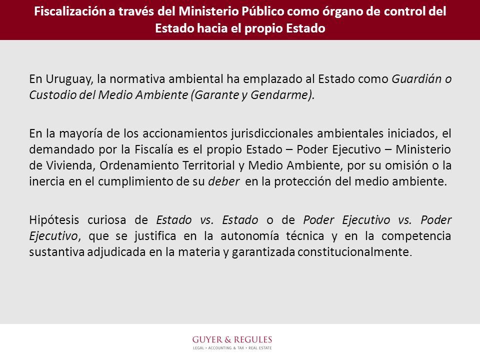 Fiscalización a través del Ministerio Público como órgano de control del Estado hacia el propio Estado