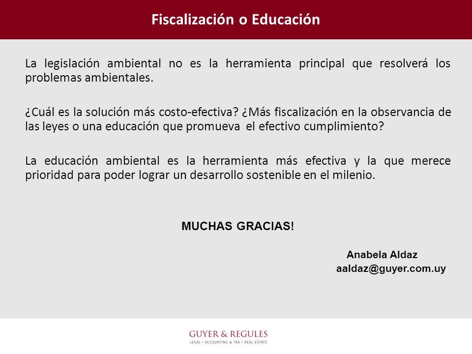 Fiscalización o Educación